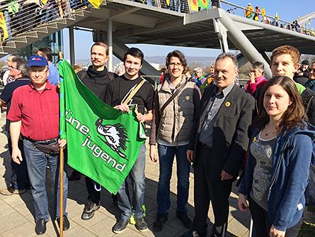 Grüne Jugend Lörrach zusammen mit prominenten Grünen