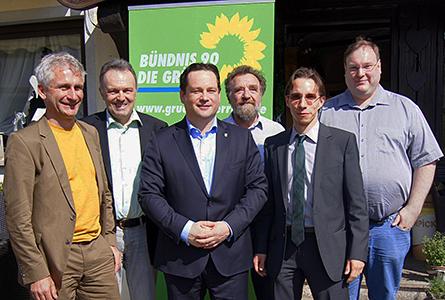 Minister Alex Bonde in Neuenweg